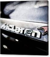 Mclaren 12c Spider Rear Emblem -0143ac Canvas Print