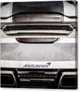 Mclaren Mp4 12c Rear View -0668ac Canvas Print