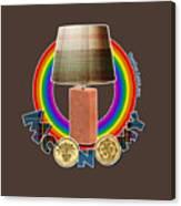 Mconomy Rainbow Brick Lamp Canvas Print