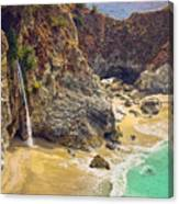 Mcway Falls On The California Coast Canvas Print