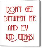 Me And My Red Wings 1 Canvas Print