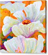 Meadow Angels - White Poppies Canvas Print