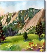 Meadow At Chautauqua Canvas Print