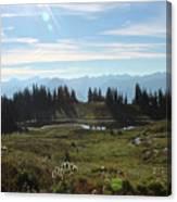 Meadow Mountain View Canvas Print