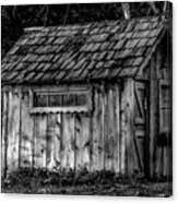 Meadow Shelter - Bw Canvas Print