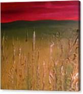 Meadows Autumn Sunset  Canvas Print