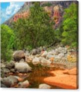Meandering Oak Creek Canyon Canvas Print