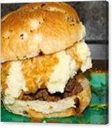 Meatloaf And Mashed Potato Sandwich Canvas Print