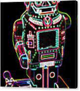 Mechanical Mighty Sparking Robot Canvas Print