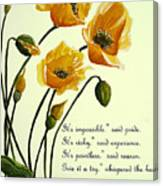 Meconopsis  Poem Canvas Print
