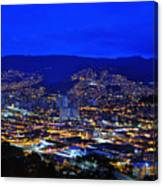 Medellin Colombia At Night Canvas Print