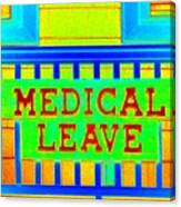 Medical Leave Art Canvas Print
