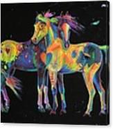 Medicine Ponies Canvas Print
