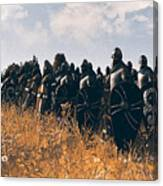 Medieval Army In Battle - 04 Canvas Print