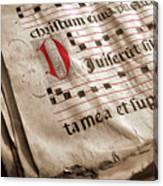 Medieval Choir Book Canvas Print