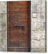 Medieval Florence Door Canvas Print