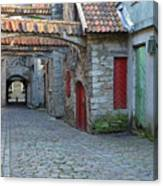 Medieval Lane In Tallinn Canvas Print