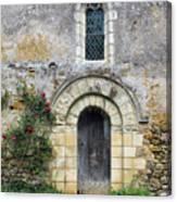 Medieval Window And Door Canvas Print
