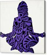 Meditate Ultraviolet Canvas Print