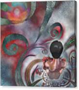 Meditating Life Universe And Beyond Canvas Print