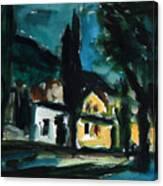 Mediterranean Night Canvas Print