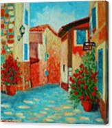 Mediterranean Street Canvas Print