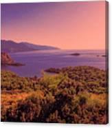 Mediterranean Sunset Glow Canvas Print