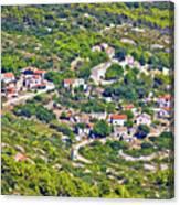 Mediterranean Village On Island Of Vis Canvas Print