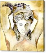 Meditrina Goddess Of Wine Canvas Print
