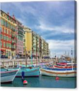 Meditteranean Life In Nice, France Canvas Print