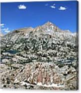 Medley Lake Basin Panorama From High Above - Sierra Canvas Print