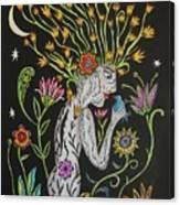 Medusa De Flores Canvas Print