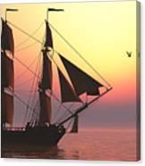 Medusa Sailing Ship Canvas Print