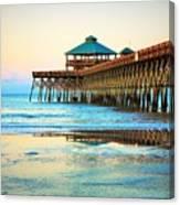Meet You At The Pier - Folly Beach Pier Canvas Print