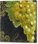 Melange Green Grapes Canvas Print