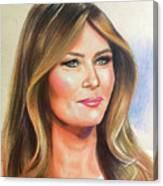 Melania Trump Canvas Print