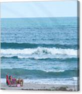 Melbourne Beach Florida On The Phone Canvas Print