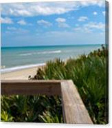 Melbourne Beach In Florida Canvas Print