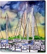 Melbourne Florida Marina Canvas Print