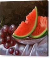 Melon Slices Canvas Print
