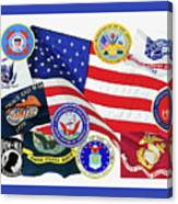 Memorial Day Collage Canvas Print