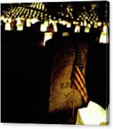 Memorial Day Luminary Canvas Print