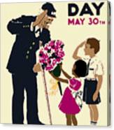 Memorial Day Poster Wpa Canvas Print
