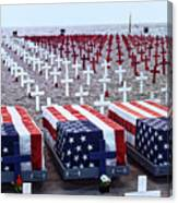 Memorial Day Remembrance At The Beach Canvas Print