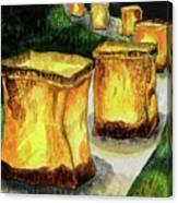 Memories Luminaria Canvas Print