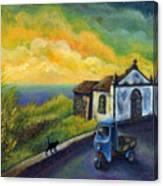 Memories Neath A Yellow Sky Canvas Print