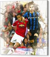 Memphis Depay Of Manchester United In Action Canvas Print