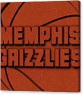 Memphis Grizzlies Leather Art Canvas Print