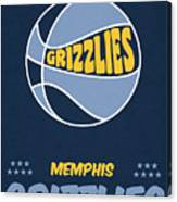 Memphis Grizzlies Vintage Basketball Art Canvas Print