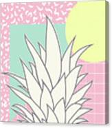 Memphis Pineapple Top Canvas Print